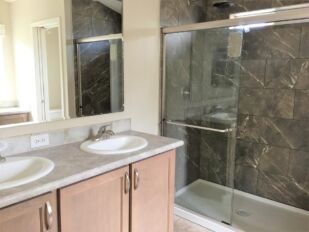 Master Bathroom and Walk-In Tile Shower