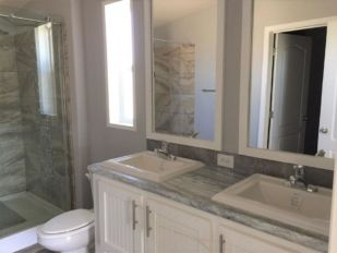 Master Bath with Double Sink Vanity, Walk-in Tile Shower
